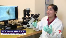 """Poonam explaining how she gives a heart attack to her """"mini-hearts"""" for Channel 7News (February 2020)"""