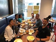 Poonam's birthday with Lydia, Bhenita, Marco, Florian and Carmine
