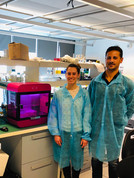 Laura and Carmine by the Rastrum bioprinter
