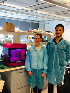 Laura and Carmine by the Rastrum bioprinter