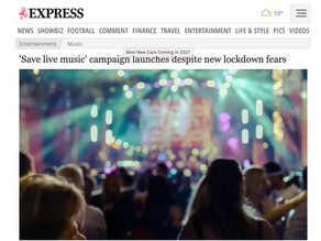 Save Live Music In The Sunday Express