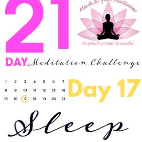Day 17 - Sleep 21 Day Meditation Challenge