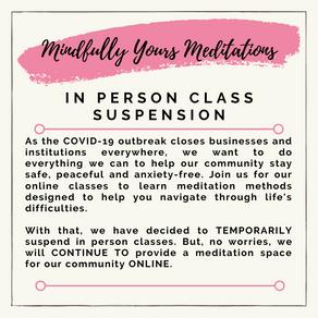 In Person Class Suspension
