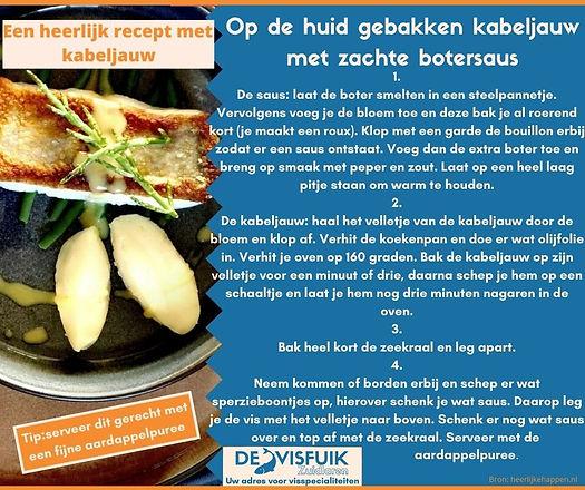 17. Op de huid gebakken kabeljauw met zachte botersaus