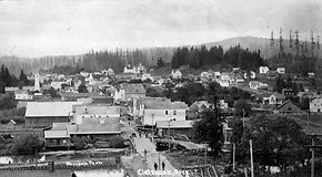 Historic view of Clatskanie's downtown