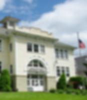 Former school building in Lafayette