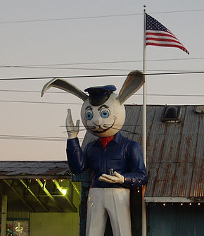 Harvey the Giant Rabbit in Reedville