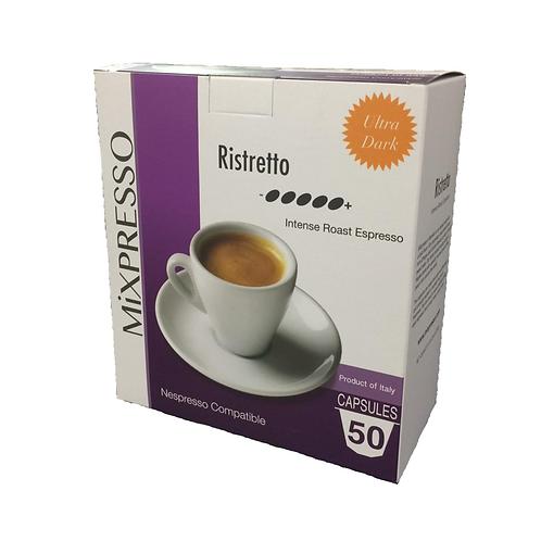芮斯崔朵(RISTRETTO) 濃厚咖啡膠囊 -強烈烘焙濃縮咖啡- (50粒裝)