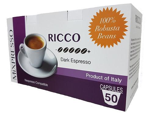 RICCO Capsule Coffee -Dark Roast Espresso- (50's)