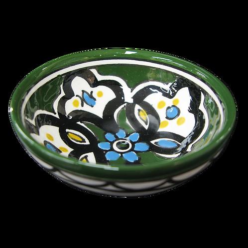 Small Flower Bowl (9cm) Dark Green