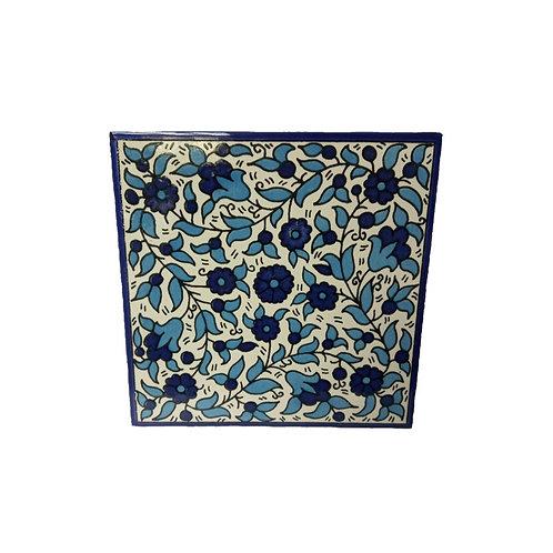 瓷磚 - 藍花 (15cm)