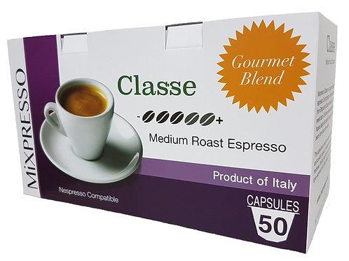 卡斯(CLASSE) 特濃咖啡膠囊 -中度烘焙濃縮咖啡- (50粒裝)