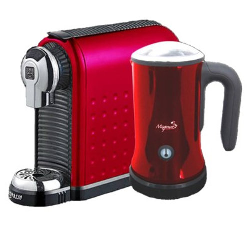 Milan Espresso Machine w/Milk frother (Red)