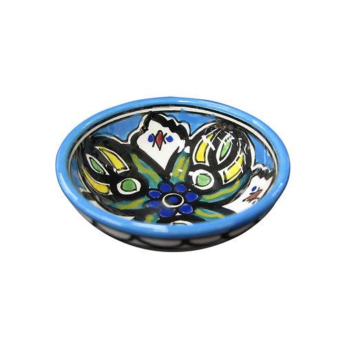 Small Flower Bowl (9cm) Light Blue
