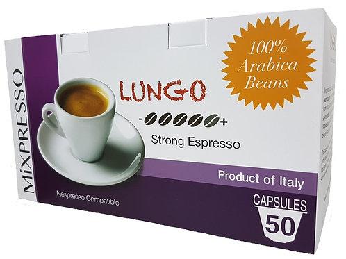 倫高(LUNGO) 特濃咖啡膠囊 -深度烘焙濃縮咖啡- (50粒裝)