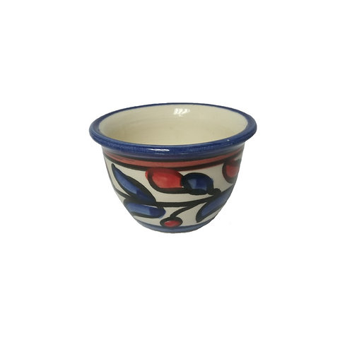 Small Cup Blue Red Leaf (6.3cm)