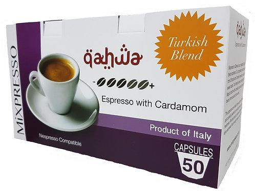 驈華(QAHWA) 特濃咖啡膠囊 -豆蔻濃縮咖啡- (50粒裝)