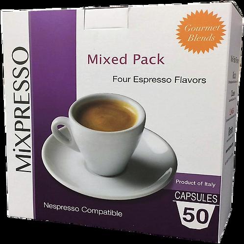 混合包裝 特濃咖啡膠囊 (50粒裝)