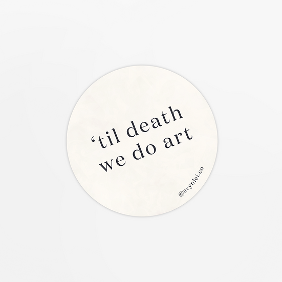 'til death' sticker
