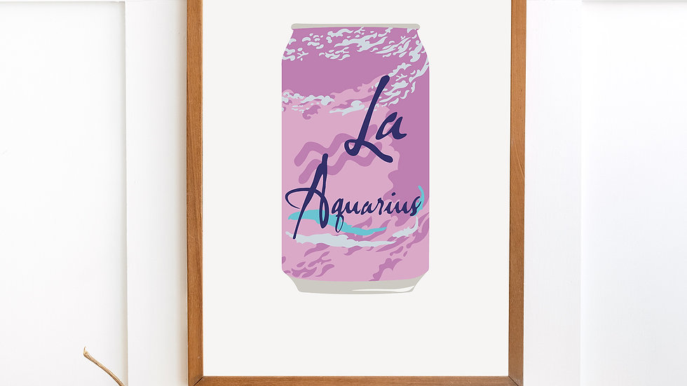 aquarius 'la astrology' poster