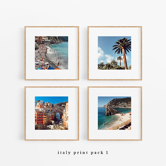 "italy print packs (four 5x5""s)"