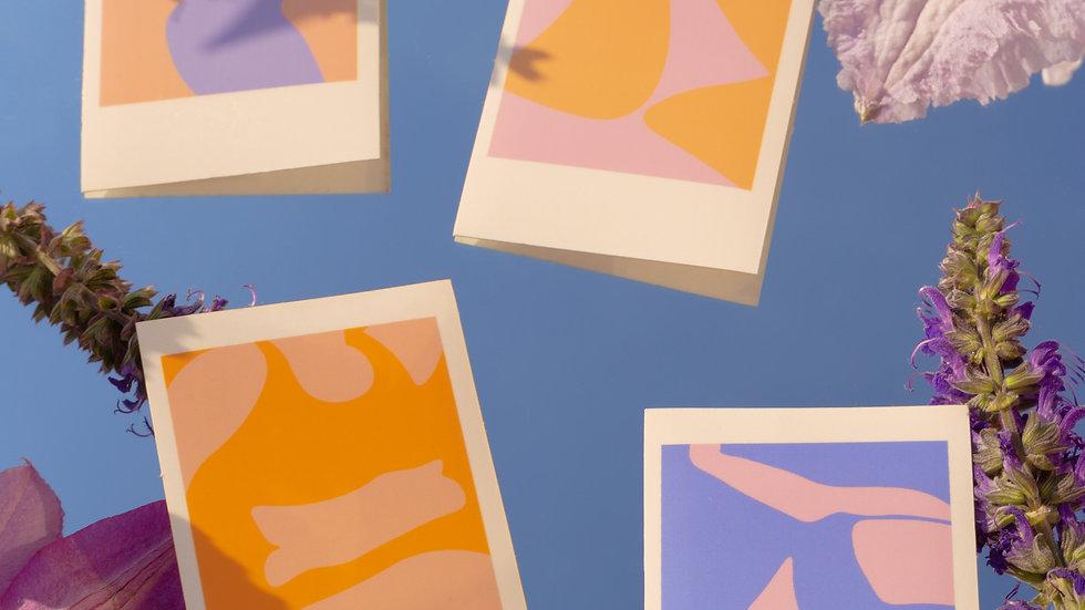 'pop art polaroid' stickers 4-pack