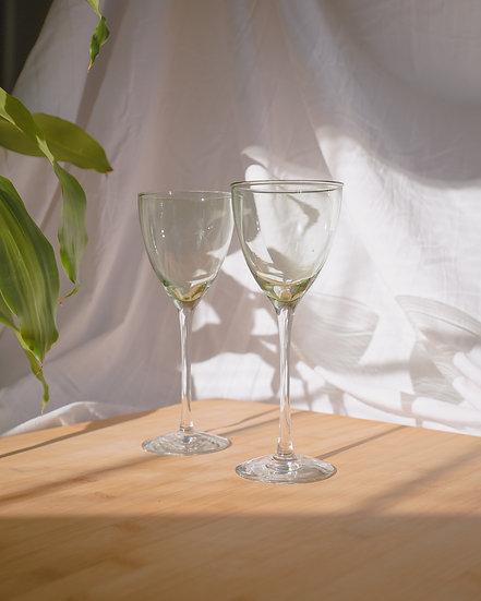 'julep' wine glasses x2
