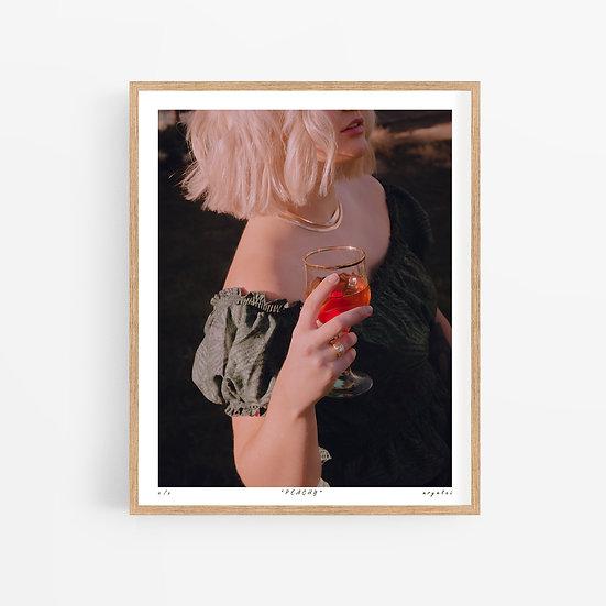 'peachy' print