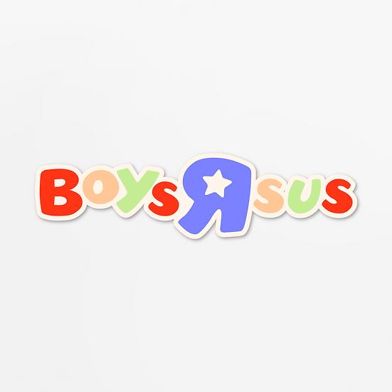 'boys r sus' sticker