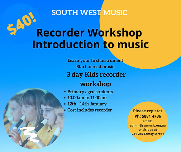Holiday Program - Recorder