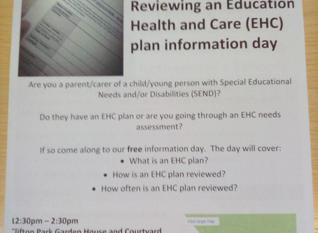 SENDIASS reviewing an EHCP information day