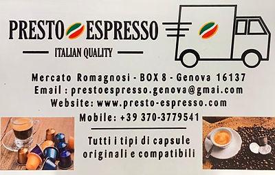 Presto Espresso - Il portale di Genova.j
