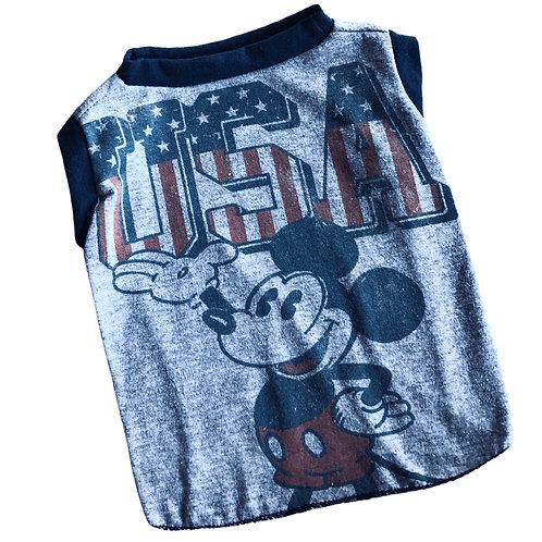 Medium- Dog t-shirt- Mickey USA