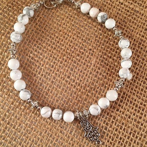 Pet Gem Necklace Howlite White
