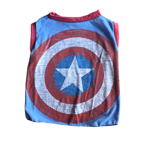 Large- Recycled Captain America t-shirt made from vintage materials.