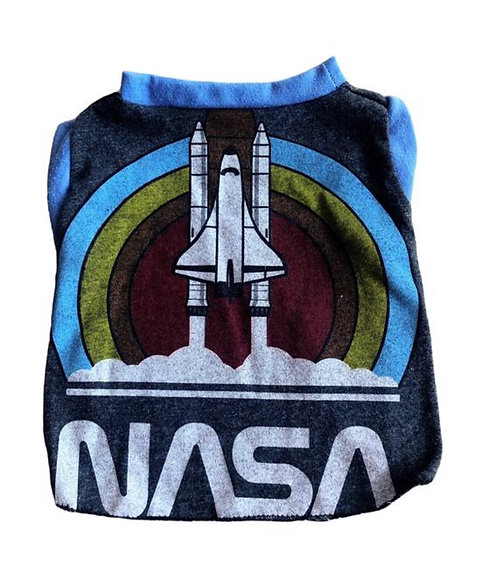 Small- Recycled NASA t-shirt made from vintage materials.