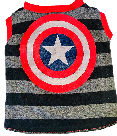 Medium- Captain America t-shirt for dogs- avail in Medium only