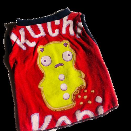 Medium- Recycled KUCHI t-shirtmade from vintage materials.
