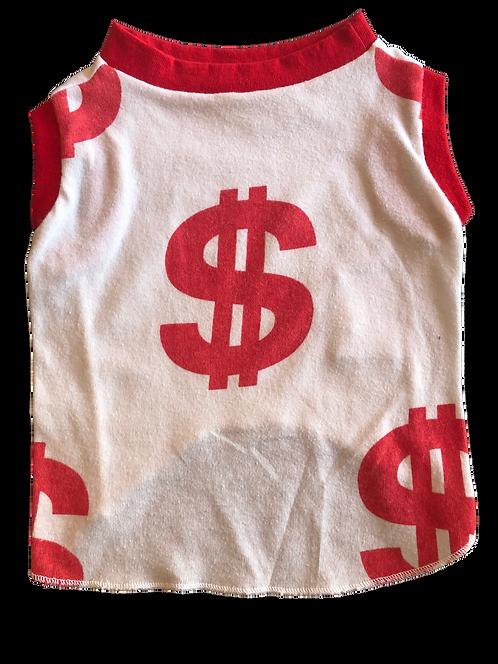 Medium- Money, Money Money tank for pups