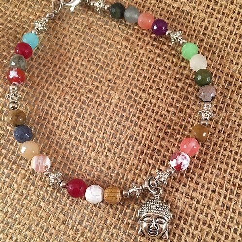 Pet Gem Necklace  Muliti Colored Agate