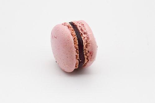 Raspberry and dark chocolate ganache