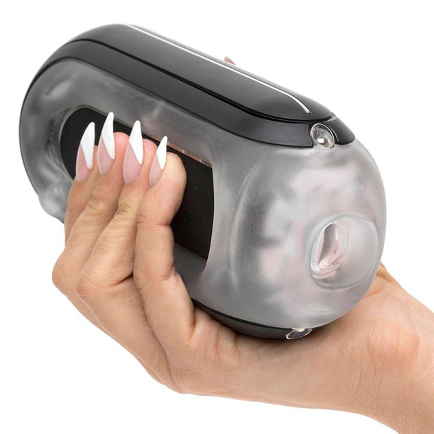 TENGA Zero Flip Hole Black Rechargeable Vibrating Male Masturbator