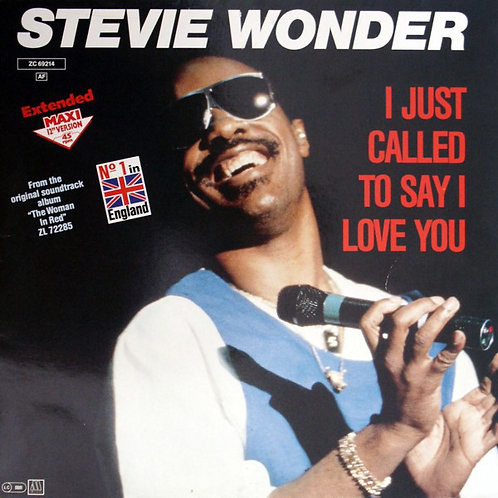 Stevie Wonder ‎– I Just Called To Say I Love You