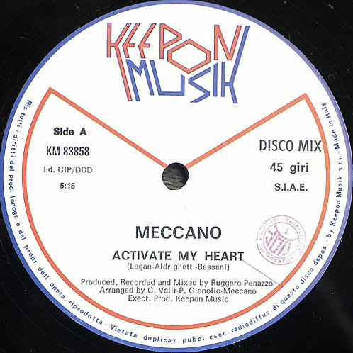 Meccano  ‎– Activate My Heart / Ipnotica