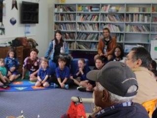 Elders share memories with students