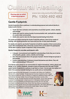 Cultural Healing Gentle Footprints flyer