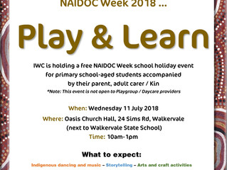 Play & Learn event for NAIDOC Week