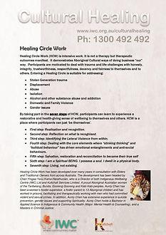 Cultural Healing - Healing Circle Work -