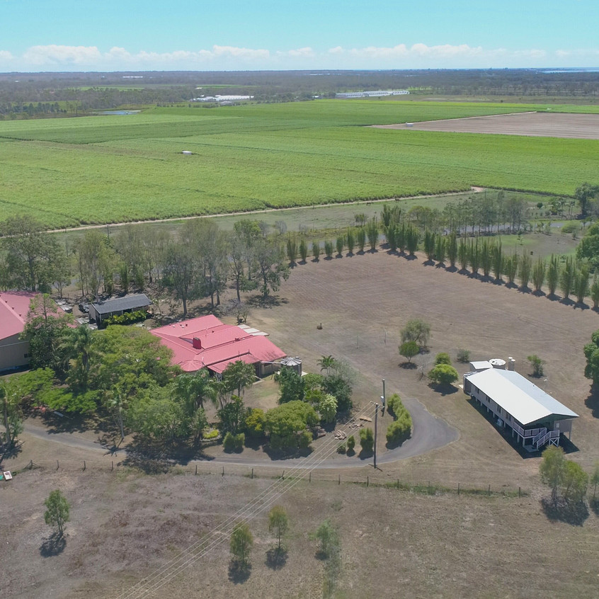 An aerial view of the IWC Home Farm at 1