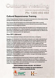 Cultural Responsiveness Training flyer 1